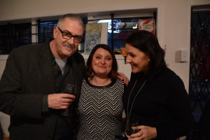 Roger Blackley Art Historian and author, Maria Pagu from our Wellington Studio, and Julia.