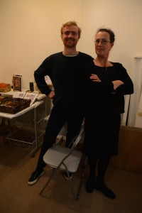 Riccardo Scott from our Wellington Studio and Adele McNutt, trying to look important.