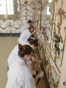 Working in the Porcelain Room at the Capodimonte Museum, Naples